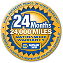 NAPA 24 month warranty